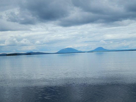 Wilsons on Moosehead Lake: Sitting at our cabin...enjoying Big & Little Spencer Mtns