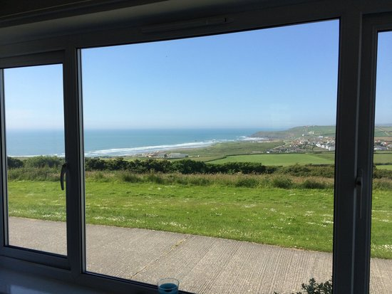 Widemouth Bay Holiday Village: view from chalet best part of the site