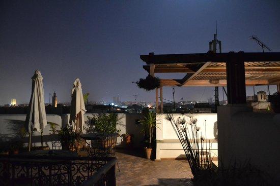 Riad Marhaba: Roof (night)