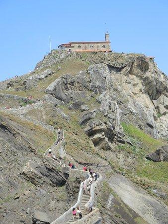 San Juan de Gaztelugatxe: Vistas antes de llegar a las escaleras