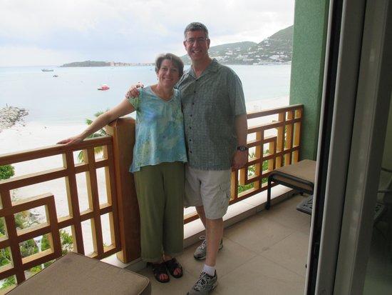 Pasanggrahan Royal Guesthouse: Our balcony!