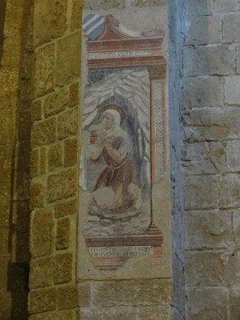 Museo Di San Mamiliano: Sovana -Particolare di dipinto murale nel Duomo