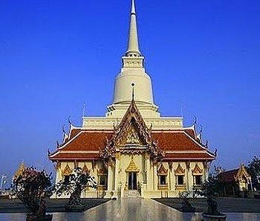 Don Sak, Tajlandia: Temple on the hill.