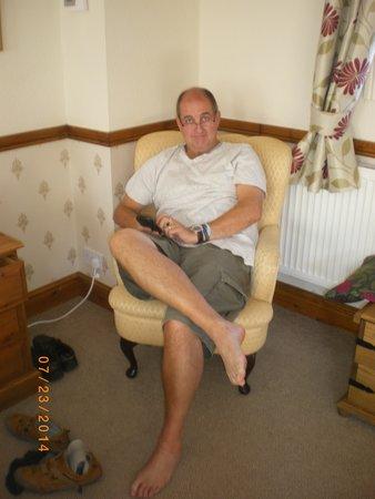 Partney, UK: Enjoying the comfortable furniture