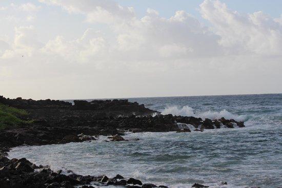 Aston at Poipu Kai: Black rock beach near the resort