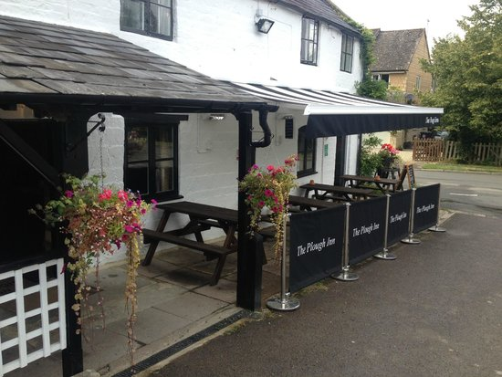 The Plough Inn Restaurant: Front View - under the awning