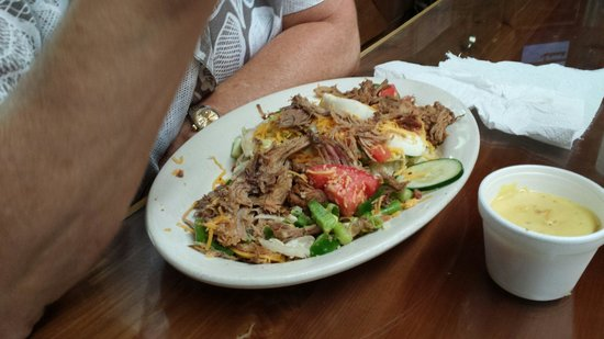 The Outpost Pickwick Dam: Pulled pork salad