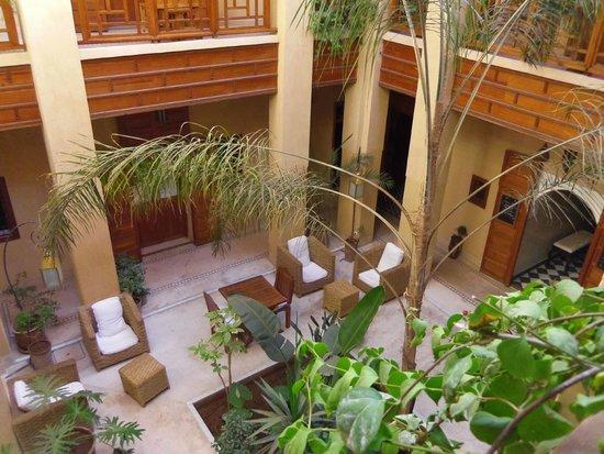 Al Ksar Riad & Spa: pation depuis l'étage