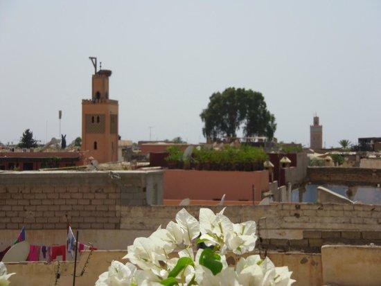Al Ksar Riad & Spa: vue depuis le toit terrasse