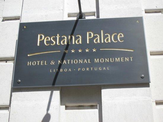 Pestana Palace Lisboa Hotel & National Monument: plaque d'entée