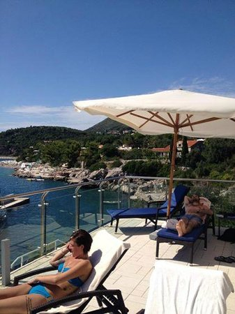 Sun Gardens Dubrovnik: view from pool