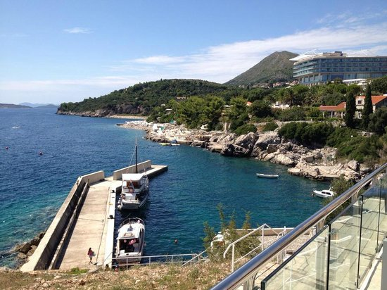 Sun Gardens Dubrovnik: view from the pool