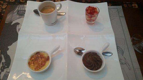 Bistrot De Paris : dessert cafe plate