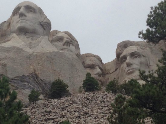 Mount Rushmore National Memorial : Up close and personal