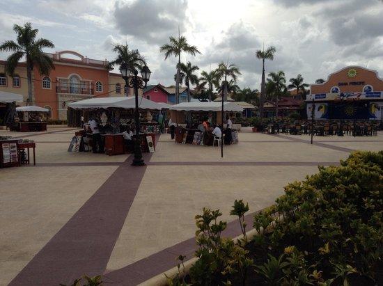 Luxury Bahia Principe Ambar Blue: Pueblo principe - where the market place, casino, club and karaoke are (shared by all Bahia reso