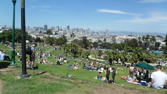 Mission Dolores Park: View from the park