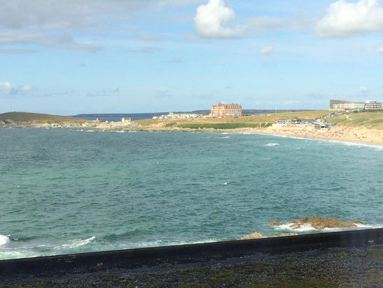 Fistral Beach Hotel and Spa: The view from my bed in room 102