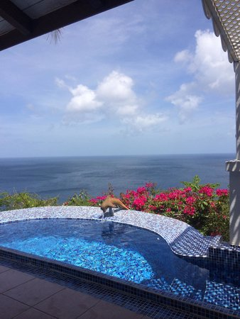 Oasis Marigot: View of the Caribbean from the Caribbean Blue Suite