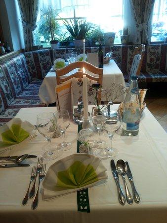Turmhotel Gschwendt: tavolo il giorno di Ferragosto