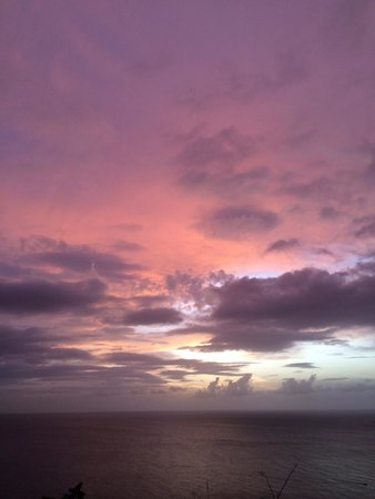 Oasis Marigot : Sunset over the Caribbean from the Caribbean Blue Suite