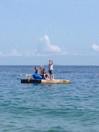 Vallarta Adventures - Las Caletas Beach Hideaway : platform in the ocean.