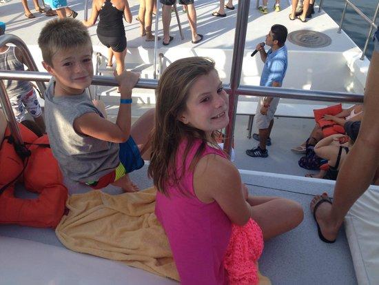 Vallarta Adventures - Las Caletas Beach Hideaway : On the Catamaran.