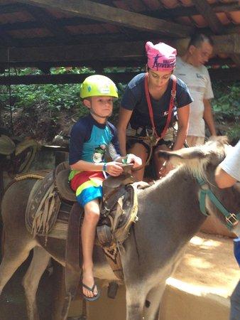 Vallarta Adventures - Las Caletas Beach Hideaway : Donkey ride for the kids (4-11 yrs old)