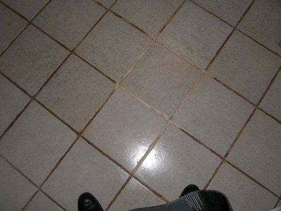 Lalati Resort & Spa: filthy grout on tile floor