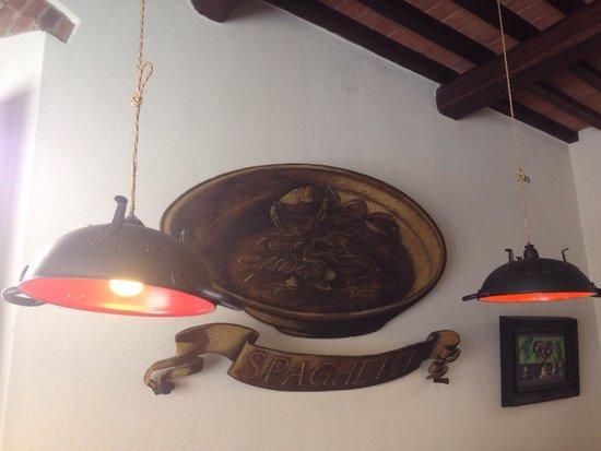 Lo Sgarbo: I bei lampadari fatti con degli scolapasta.