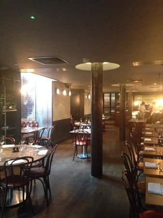 Jamie Oliver's Fifteen: The restaurant area downstairs