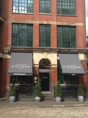 Entrance to Jamie Oliver's Fifteen