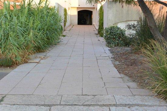 Résidence Maeva Les Marines de Gassin : Allée commune donnant accès à la piscine