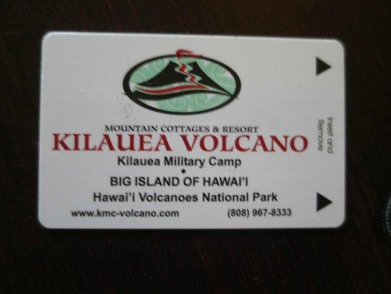 Kilauea Volcano Military Camp: Room Key from the KMC