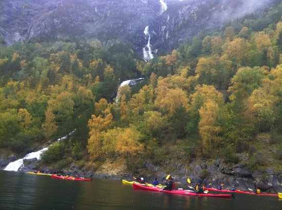 Njord - Seakayak and Wilderness Adventure Day Tours: Waterfall, one of many.
