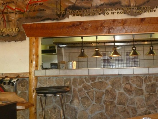 kitchen at k-bob's - picture of k-bob's steakhouse, socorro