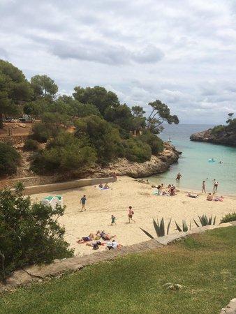 AluaSoul Mallorca Resort: View of beach from terrace bar aug 2014