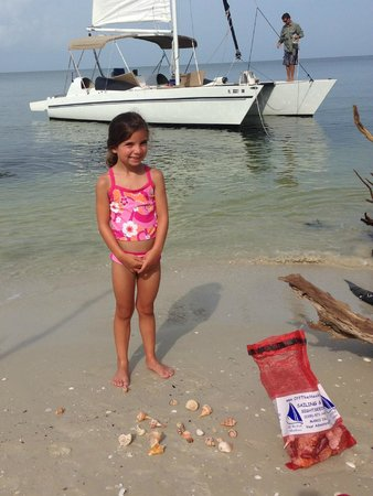 Off the Hook Adventures: proud of her shells!