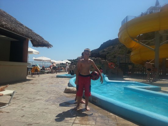 smartline Village Resort & Waterpark : my son at the waterpark