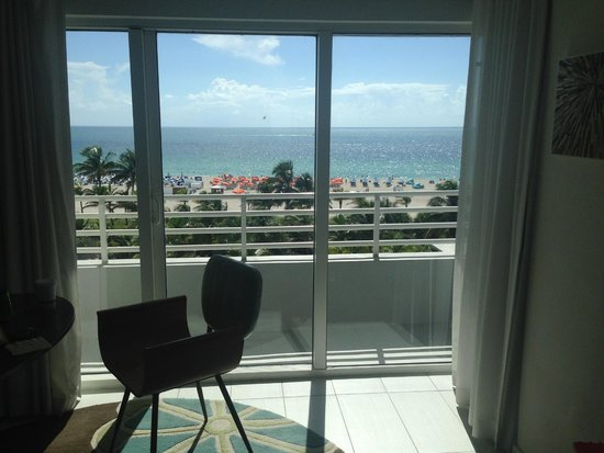 Royal Palm South Beach Miami, A Tribute Portfolio Resort: view from beachfront room with terrace