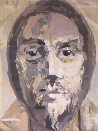 Coventry Cathedral: Jesus' face