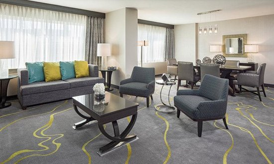 Hyatt Regency Washington on Capitol Hill: Regency Suites feature dining area with table for six, wet bar, Murphy Bed, and an extra half ba