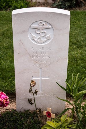 British War Cemetery: An Unknown Sailor