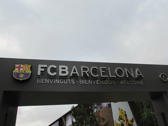Camp Nou: entree