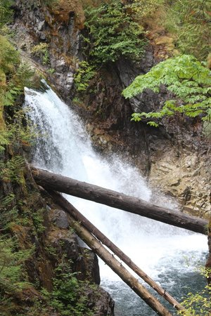 Little Qualicum Falls Provincial Park: Upper fall