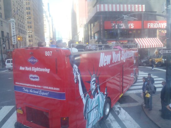 New York City Sightseeing: los buses pasan frecuentemente
