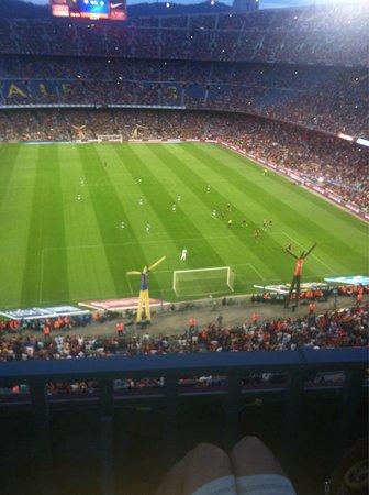 Camp Nou: Pendant le match FC Barcelone-Camp Léon FC! Trophée Joan Gamper le 18 août 2014 score 6-0 pour l