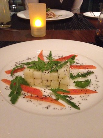 Hilton Mexico City Santa Fe: Jicama salad from the Vegetarian menu