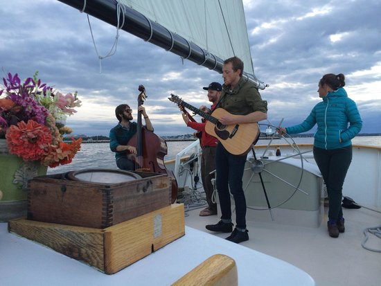 Maine Sailing Adventures: The Pete Miller band was a wonderful treat during our sunset sail on the Frances.