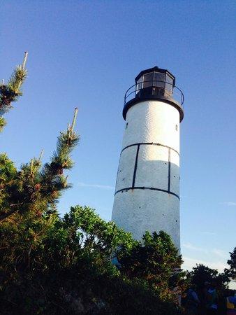 Long Pasture Wildlife Sanctuary : The lighthouse on Sandy Neck