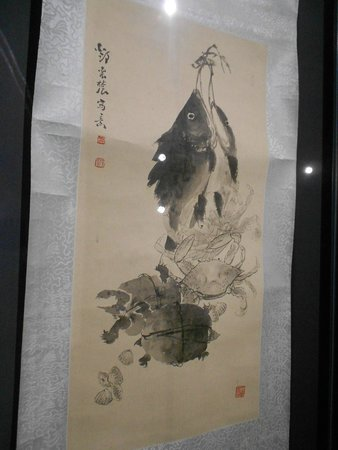 Oriental Museum: sea animal ink work from the China section